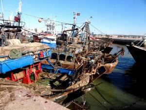 Fiskebåtar i Essaouira