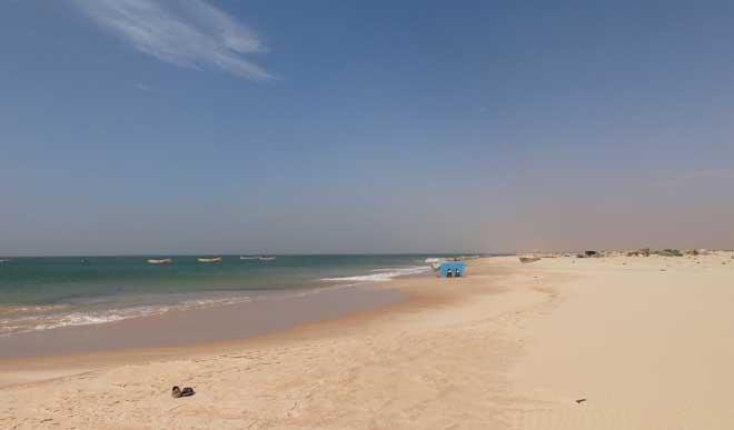 Strandbild i Marocko