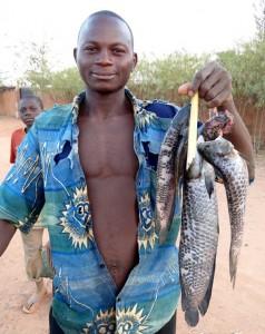 En glad fiskare