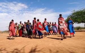 Samboro folket dansar