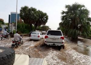 Ett regnigt Khartoum